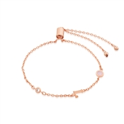 Dirty Ruby Rose Gold Letter L CZ Bracelet
