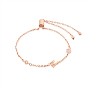 Dirty Ruby Rose Gold Letter M CZ Bracelet
