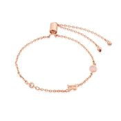 Dirty Ruby Rose Gold Letter R CZ Bracelet