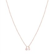 Dirty Ruby Rose Gold Letter S CZ Necklace