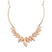 August Woods Rose Gold Pink Geo Leaf Detail Necklace
