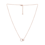 Argento Rose Gold  Linked Circles Necklace