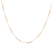 Argento Rose Gold 3 Bead Necklace