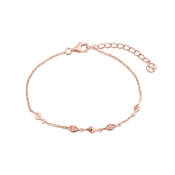 Argento Rose Gold  Tassle Drop Bracelet