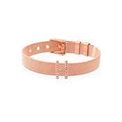 Karma Sparkle H Rose Gold Charm