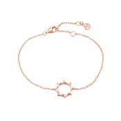 Argento Rose Gold  Stellar Open Circle Bracelet