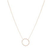 Argento Rose Gold Stellar  Open Circle Necklace