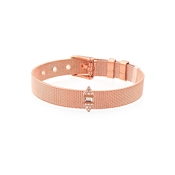 Karma Rose Gold CZ Pyramid Charm