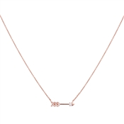 Argento Rose Gold  White Opal Arrow Necklace