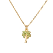 Kate Spade New York California Dreaming Pave Palm Tree Mini Pendant