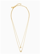 Kate Spade New York Elegant Edge Gold Double Pendant Necklace