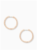 Kate Spade New York Elegant Edge Rose Gold Hoops