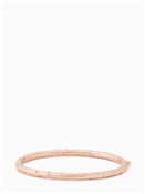 Kate Spade New York Elegant Edge Rose Gold Stone Bangle