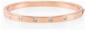Kate Spade New York Set In Stone Metal Hinged Rose Gold Bangle