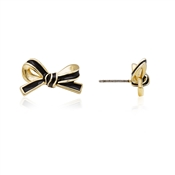 Kate Spade New York Skinny Mini Bow Black Stud Earrings