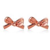 Kate Spade New York Skinny Mini Bow Rose Gold Studs
