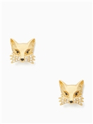 Kate Spade New York So Foxy Fox Gold Stud Earrings
