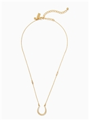 Kate Spade New York Wild Ones Pave Horseshoe Mini Necklace