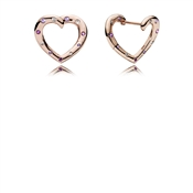 PANDORA Rose Bright Hearts Hoop Earrings