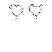 PANDORA Bright Hearts Hoop Earrings