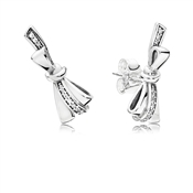 PANDORA Brilliant Bows Stud Earrings