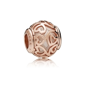 PANDORA Rose Hearts Filigree Charm