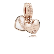 PANDORA Rose Mother & Daughter Hearts Pendant Charm