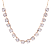 August Woods Rose Gold Clear CZ Drop Necklace
