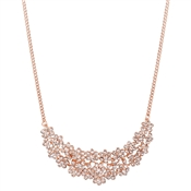 August Woods Rose Gold CZ Flowers Collar Necklace