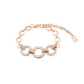 August Woods Rose Gold CZ Middle Circle Bracelet