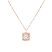 August Woods Rose Gold CZ Square Pendant Necklace
