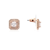 August Woods Rose Gold CZ Square Stud Earrings