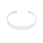 August Woods Silver Open Curved Bangle