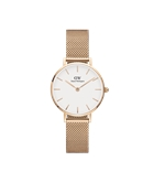 Daniel Wellington Petite White Melrose 28mm Rose Gold Watch