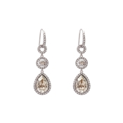 Lily & Rose Amy Silver Shade Drop Earrings