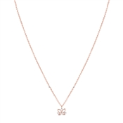 Argento Rose Gold Mix Lotus Flower Necklace