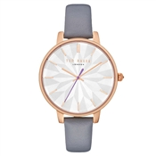 Ted Baker Kate Grey Leather Mirror Dial Watch
