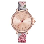 Ted Baker Ruth Palace Garden Leather Rose Gold Watch