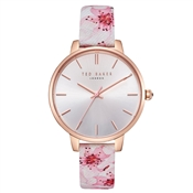 Ted Baker Kate Peach Blossom Leather Pink Watch