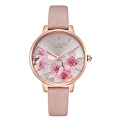 Ted Baker Kate Pink Leather Peach Blossom Watch