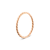 Argento Rose Gold Plain Twist Ring