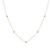 Argento Rose Gold Multi Knot Necklace