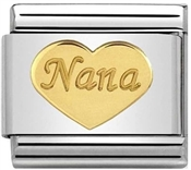 Nomination Nana Gold Heart