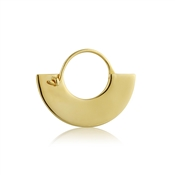 Ania Haie Gold Flat Hoop Earrings