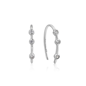 Ania Haie Silver Stud Hoop Sparkle Earrings