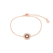 Argento Rose Gold Ethnic Rose Openwork Circle Bracelet