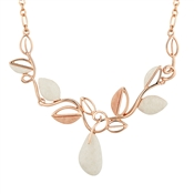 August Woods Rose Gold Pink and White Georock Necklace