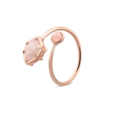 August Woods Rose Gold Rose Quartz Adjustable Ring