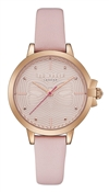 Ted Baker Beth Pink Leather Bow Dial Watch