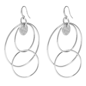 Pilgrim Amalia Silver Plated Hoop Earrings